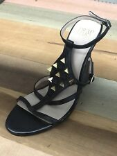 NEW TRUTH OR DARE BY MADONNA WEDGE BLACK LEATHER SHOES SIZE US 7.5 M