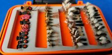 96 Flies + Waterproof Fly Box * Dry Dries + Nymphs * Trout Fishing * Assortment