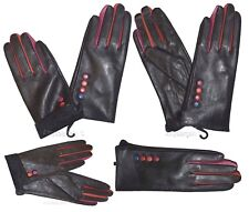 Woman's Gloves. (S) Leather winter Leather Dress Gloves. Warm Stylish Gloves BN