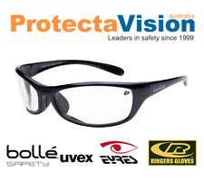 New Bolle Safety Glasses Raptor Clear Lens Medium Impact