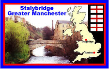 STALYBRIDGE, GREATER MANCHESTER - SOUVENIR NOVELTY FRIDGE MAGNET - NEW - GIFT