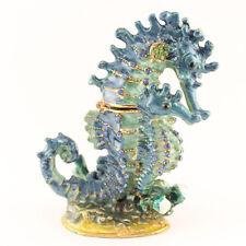 Blue Seahorse Jewelry Trinket Box Collectible Water Animal Sea Gift 02022A