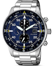 CITIZEN Eco-Drive Watch,Chrono,210DayPowerReserve,WR100,12/24hrs,Mens,CA0690-88L