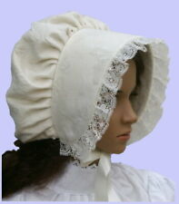 Victorian ladies bonnet costume fancy dress Dickensian Christmas carol singer gr