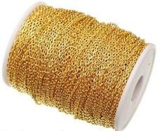 5Meter Gold Plated Cable Open Link Iron Metal Chain Jewelry Findings DIY 2