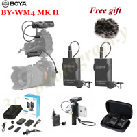 BOYA BY-WM4 MK II Lavalier Wireless Microphone Real-time for Smartphone DSLR New