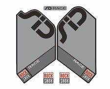 Rock Shox SID Race  Mountain Bike Cycling Factory Style Decal Kit Sticker Gray
