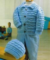 (784) Baby Child's Jacket and Hat Knitting Pattern, 16-26''