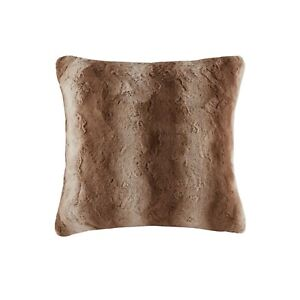 MADISON PARK ZURI FAUX FUR 25 '' X 25 '' EURO PILLOW TAN