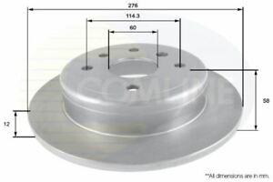 FOR CHEVROLET EPICA 1.8 L COMLINE REAR BRAKE DISCS ADC2800