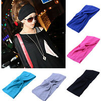 Lady  Chic Cotton Turban Twist Knot Head Wrap Headband Twisted Knotted Hair Band