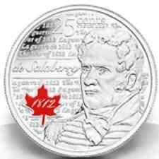 2013 25 cent ($0.25) de Salaberry Quarters Pair (1 coloured & 1 uncoloured)
