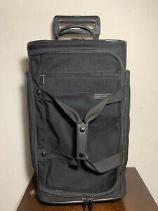 Briggs & Riley 06-UD21 Duffle Black Nylon Expandable Wheeled Carry-On Luggage