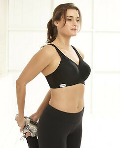 Glamorise Sports Bra Magic Lift Style 1006 NWT BLACK