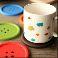 Silicone Button Coasters Coffee Mat Pads Place Mat Holder Tea Cup Cushion TSCA