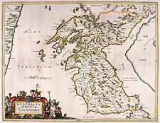 MAP ANTIQUE BLAEU SCOTLAND 1654 KNAPDALE OLD LARGE REPLICA POSTER PRINT PAM0609