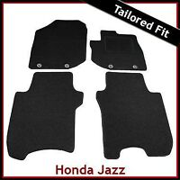 HONDA JAZZ Mk3 2008-2015 Tailored Fitted Carpet Car Floor Mats BLACK