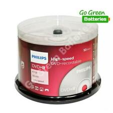 50 x Philips DVD+R Blank Recordable Discs 4.7GB 120 Mins 1-16x Speed Spindle