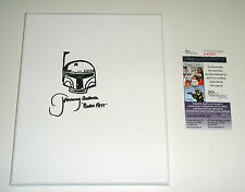 Jeremy Bulloch Star Wars Bobba Fett Hand Drawn Canvas Sketch Signed FREE SHIP