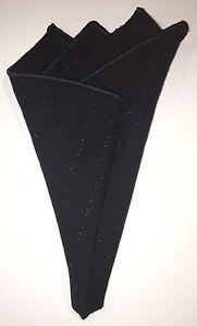 Pocket Square Handmade Black With Black Stitched Borders By Squaretrapnyny.com
