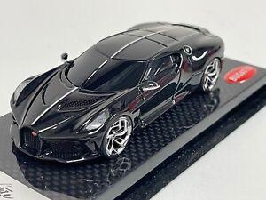 1/43 Looksmart Bugatti La Voiture Noir Launch Version Carbon Fiber Base LS512