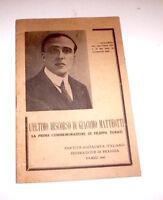 Socialismo - L'ultimo discorso di Giacomo Matteotti - ed. 1945