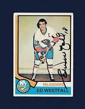 Ed Westfall signed New York Islanders 1974-75 Topps hockey card