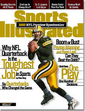 August 17, 1998 Brett Favre Green Bay Packers Sports Illustrated NO LABEL 1