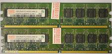 2 Gb 2x1gb Ddr 2 Ddr2 Pc2-4200 u Ddr2-533 Mhz Memoria 240 Pin Dimm Ram Pc sin ECC