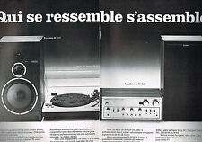 PUBLICITE  advertising  1976   SONY    chaine hi-fi  (2 pages)