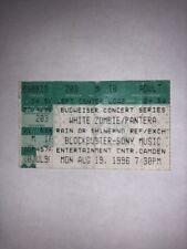 Pantera White Zombie Dimebag Vinnie Paul Phil Anselmo Ticket Stub Slayer