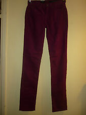 Berry corduroy slim fit trousers by Calvin Klein Jeans in size W27 L32 BNWT