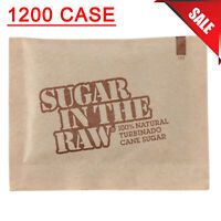 (1200-Pack) 5 Gram Restaurant Brown Sugar In The Raw Portion Packs Packets