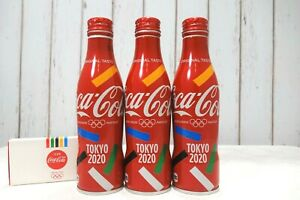 2020 Tokyo Olympics Coca-Cola EMPTY 3 Bottles Special Edition collectable Japan