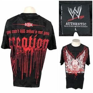 WWE Authentic Shawn Michaels HBK All Over Print Creation Men Large Shirt Vintage
