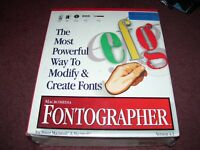 Vintage MACROMEDIA FONTOGRAPHER  for POWER MACINTOSH & MACINTOSH EDUCATION VERS