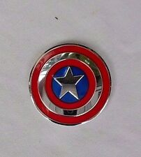 """Captain America Shield Metal Sticker Decal  new 1"""" X 1"""" Licensed Product"""