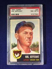 1953 Topps Hal Jeffcoat #29 PSA 8 Chicago Cubs