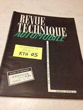 Revue Technique Automobile Chrysler C52 C53 C54 C55 + étude Somua JL17 éd 1953