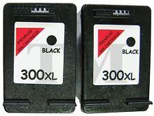 Remanufactured 300XL Twin Pack Black Ink fits HP Deskjet D2645 Printers