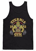 ETERNIA GYM VEST T SHIRT HE-MAN WEIGHTLIFTING TRAINING BODYBUILDING MMA