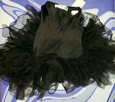 Sammy + Nat Kids Ballerina Tutu Leotard Black Swan L 8Y