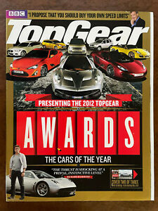 TOP GEAR BBC Magazine Awards 2012 Ferrari F12 Porsche Boxster Lamborghini