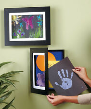 """Kids Easy Change Artwork Picture Frame 8-1/2"""" x 11"""" or 9"""" x 12"""" Drawing Art Wall"""