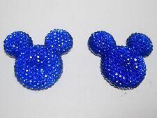 20 Royal Blue Acrylic Flatback Rhinestone Mouse Gems 30mm Flat Back Resin