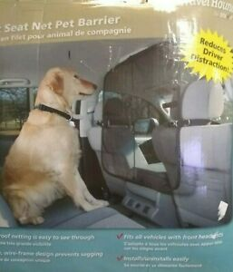 """Solvit Sta-Put Front Seat Net Barrier 32"""" W x 32"""" H Micro Mesh Claw Proof"""