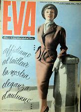 """* EVA N°36/ 2/SET/1950 * Rivista per la donna italiana diretta da """" Sonia """" *"""