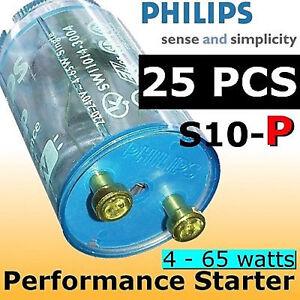 25 pcs Philips Fluorescent / UV Starter S10-P 65watts