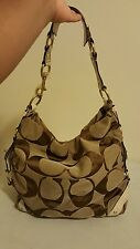 Authentic Large Coach Signature Carly Hobo