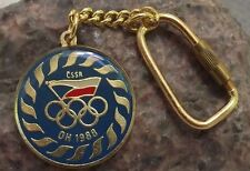 1988 Seoul Olympic Games Rings Sports Czech Team Blue Keychain Key Chain Keyring